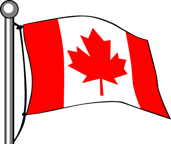 Canada Flag Flying clip art - vector clip art online, royalty free ...
