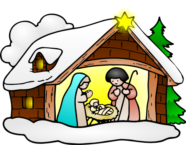 free clipart of baby jesus in a manger - photo #13