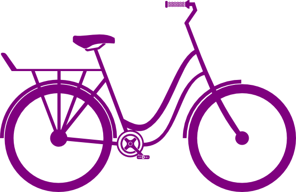 Bike Images Clip Art Purple Bike clip art vector