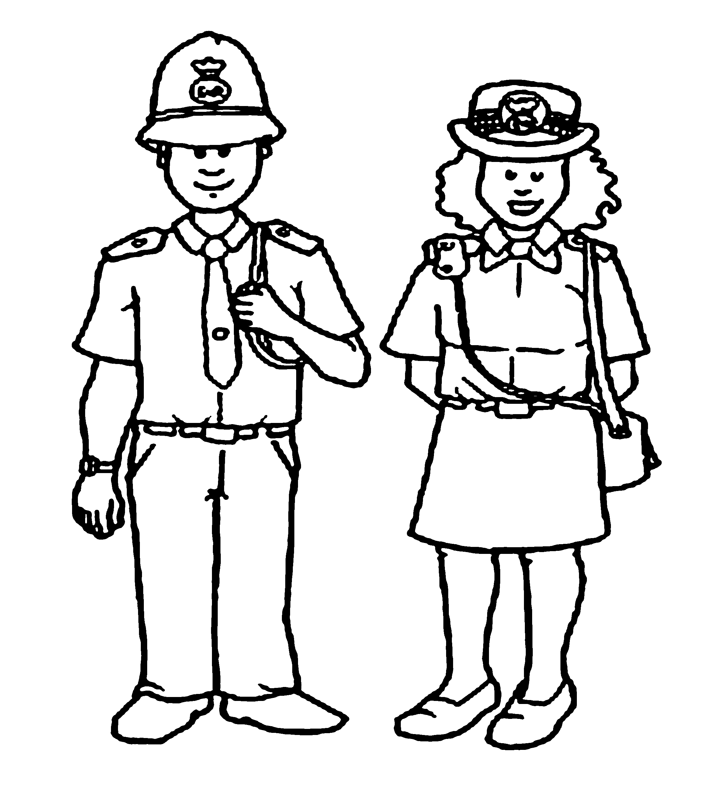 Police Officer Drawing For Kids
