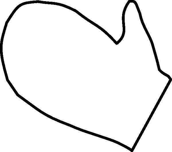 Large Mitten Template Printable - NextInvitation Templates