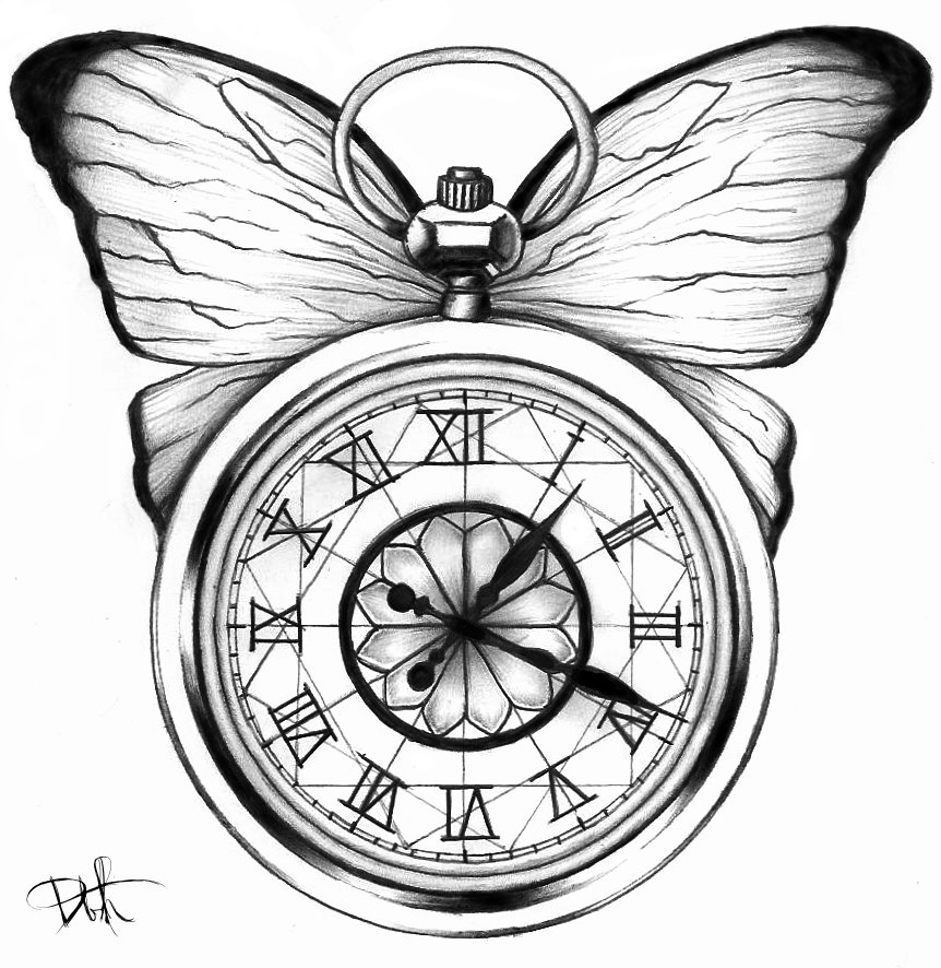 alice in wonderland clock clipart - photo #24