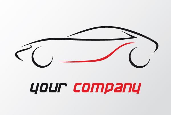 Cool car outline logo 14