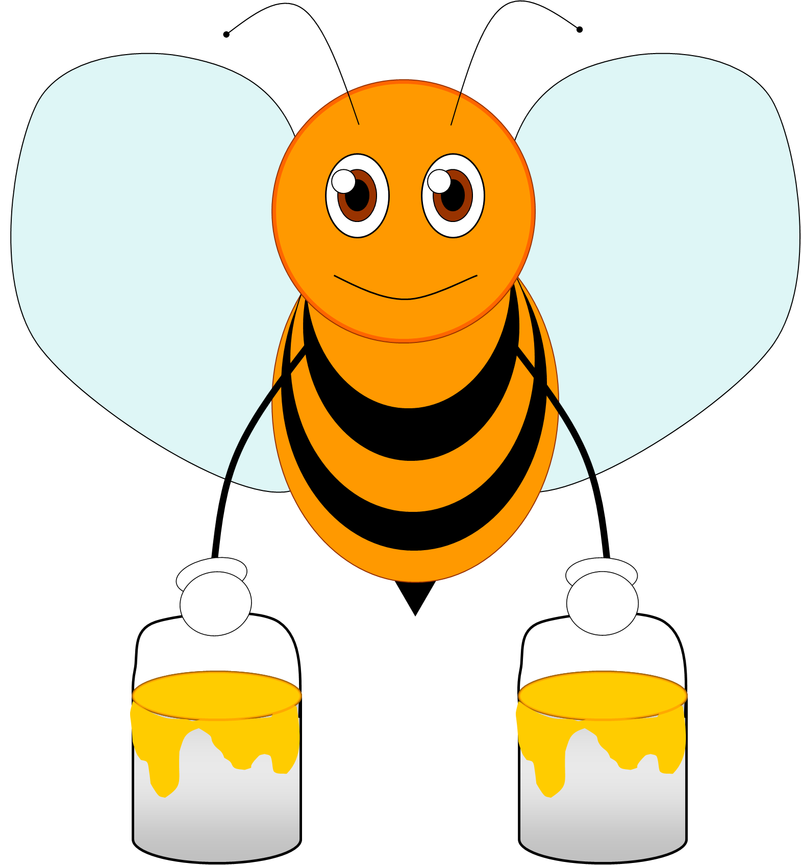 Bee 2 image - vector clip art online, royalty free & public domain