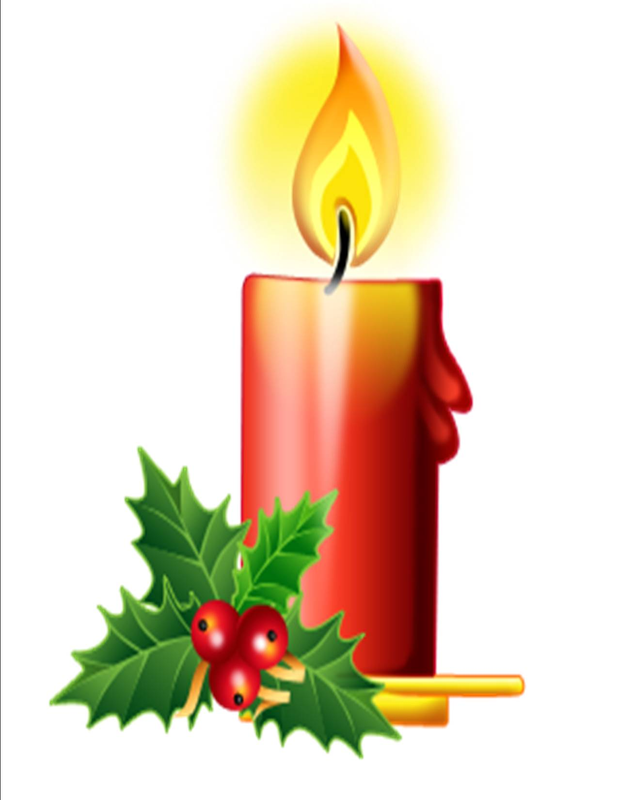 christmas candle clip art. Black Bedroom Furniture Sets. Home Design Ideas
