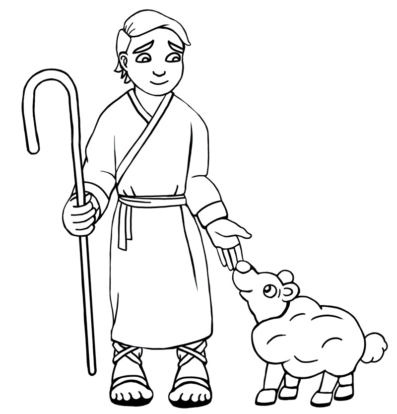Free Coloring Pages Of David The Shepherd Boy
