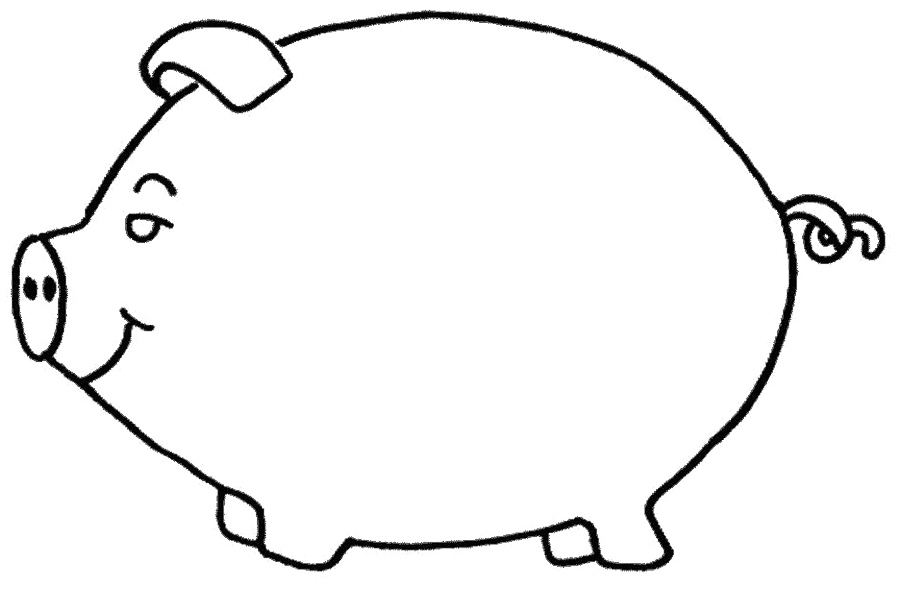 pig coloring pages for preschoolers - photo#11