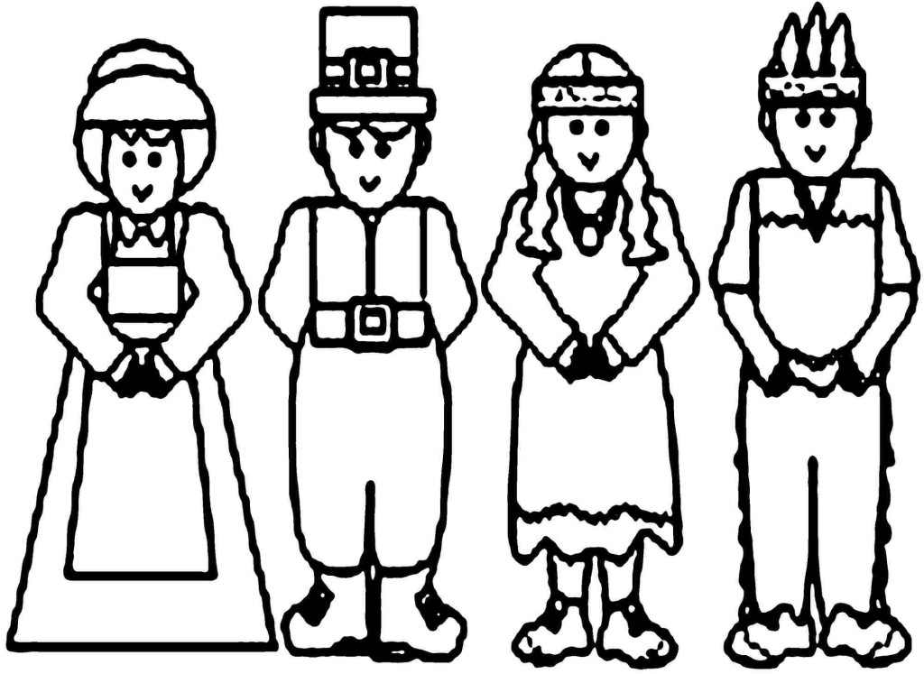kids pilgrim and indians costume - Clip Art Library | 747x1024