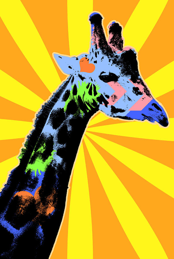 Pop Art Giraffe by Pati Photography - Royalty Free and Rights ...