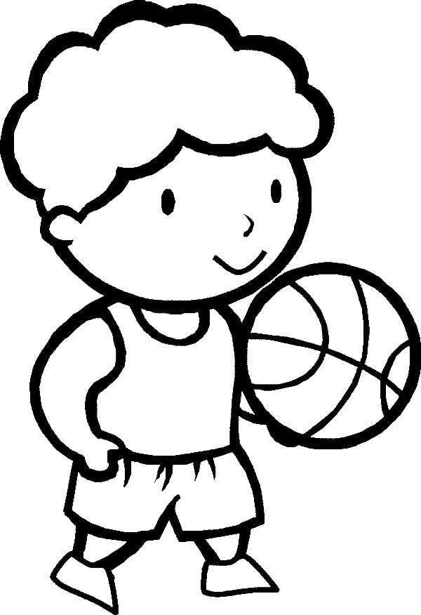 Basketball Court Coloring Page  Free Printable Coloring