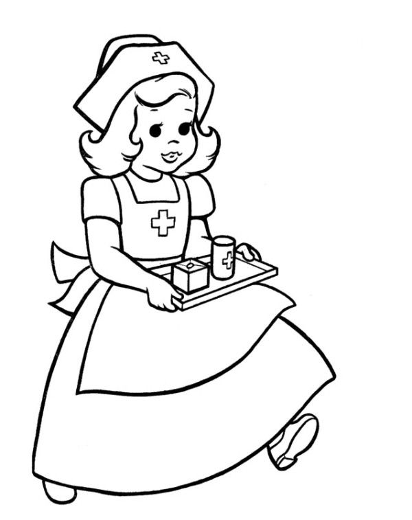 Line Drawing Nurse : Heavy equipment coloring pages