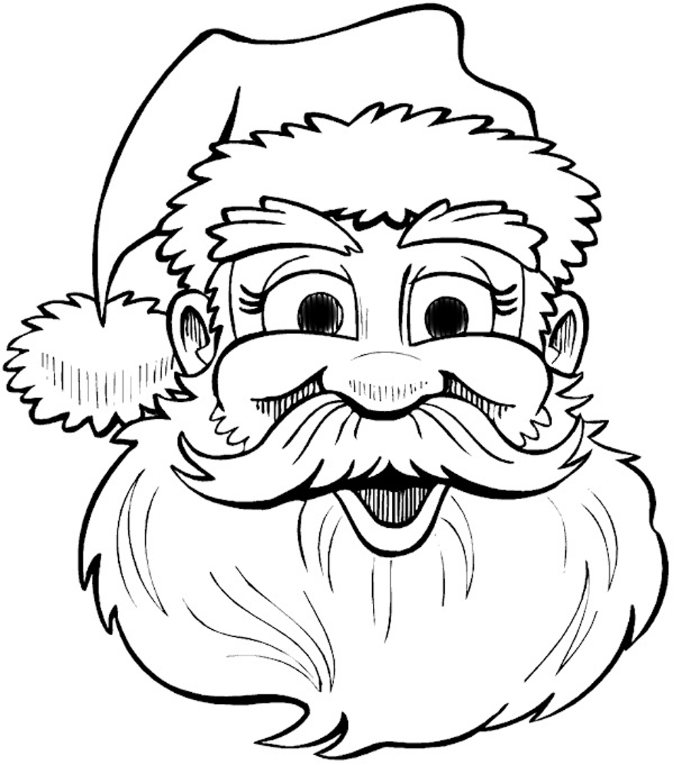 Santa Claus Outline - Cliparts.co