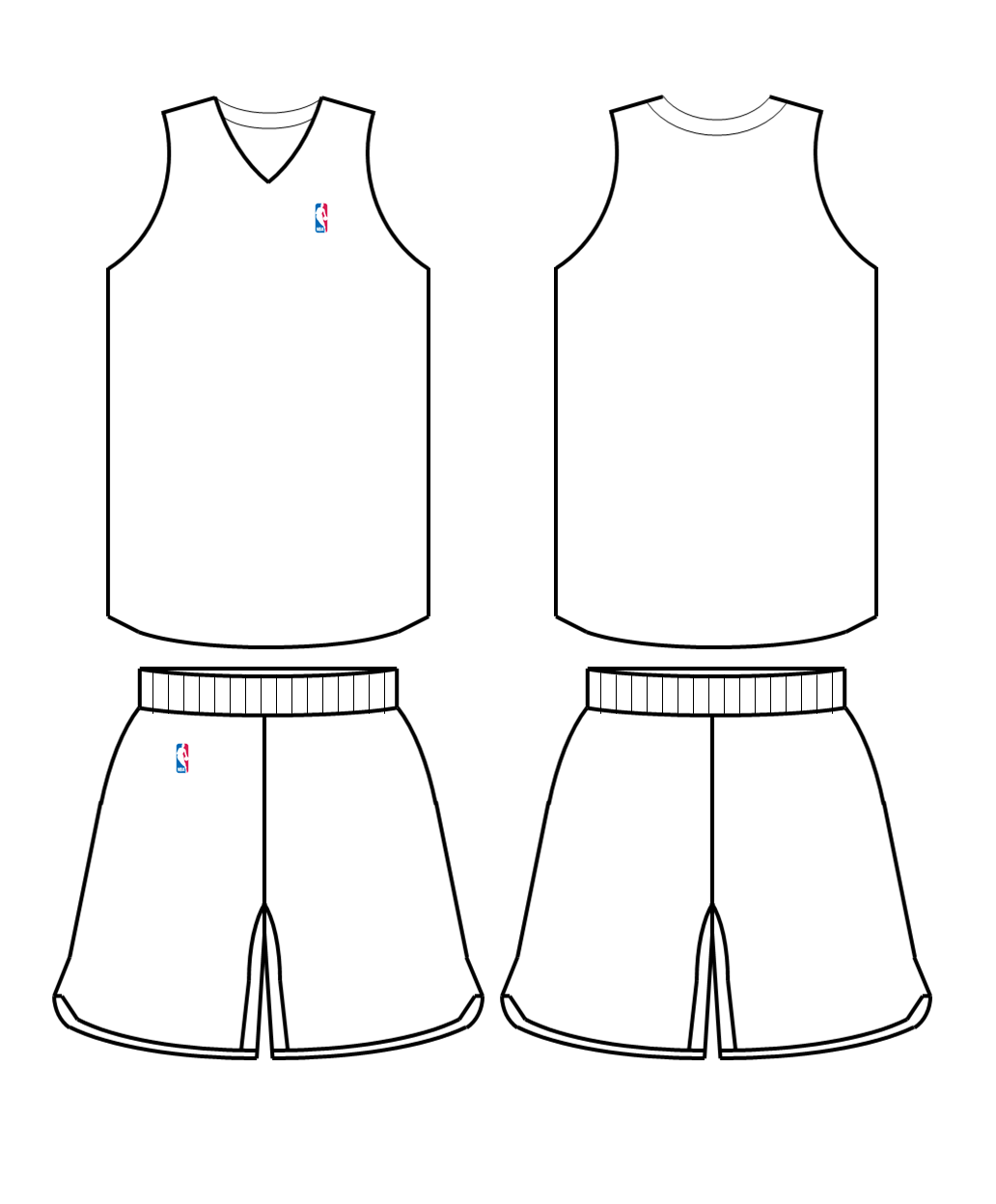 Blank Basketball Jersey Cliparts Co