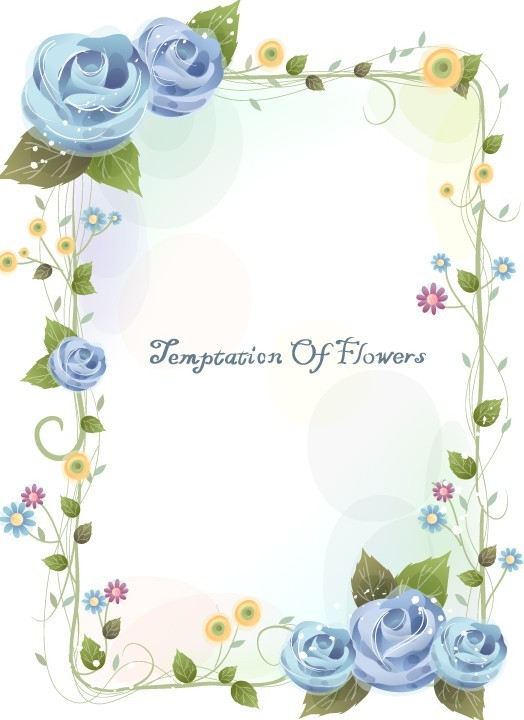 Simple Flower Border Designs For School Projects - Cliparts.co