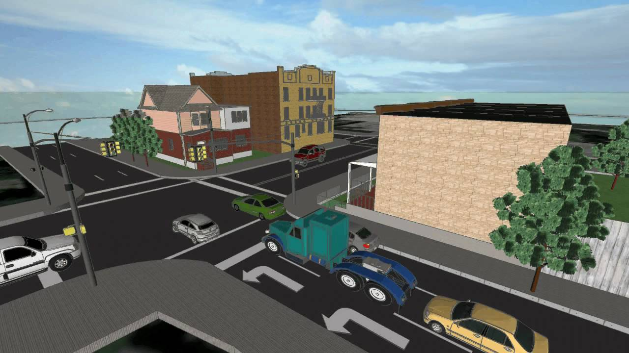 Car Crash Recreated In Google Sketchup Animated - YouTube