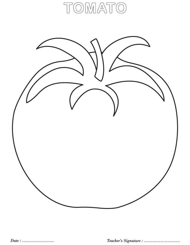 coloring pages tomatoes - photo#6