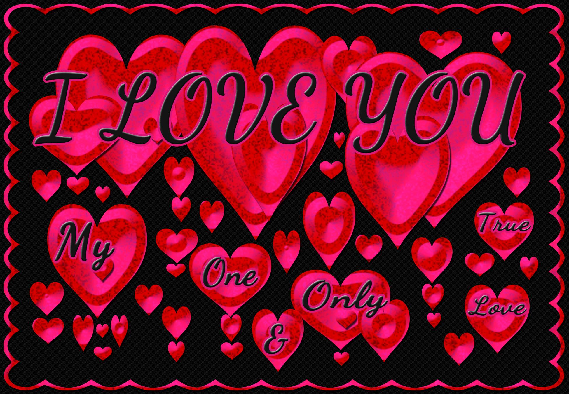 i love you hearts clipartsco