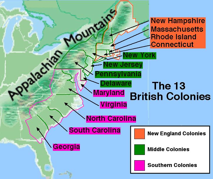 the role of puritans in the british north american colonies between 1607 and 1763 Colonial america (1492-1763) in 1607 many of the people more than 2 million people lived and worked in great britain's 13 north american colonies.