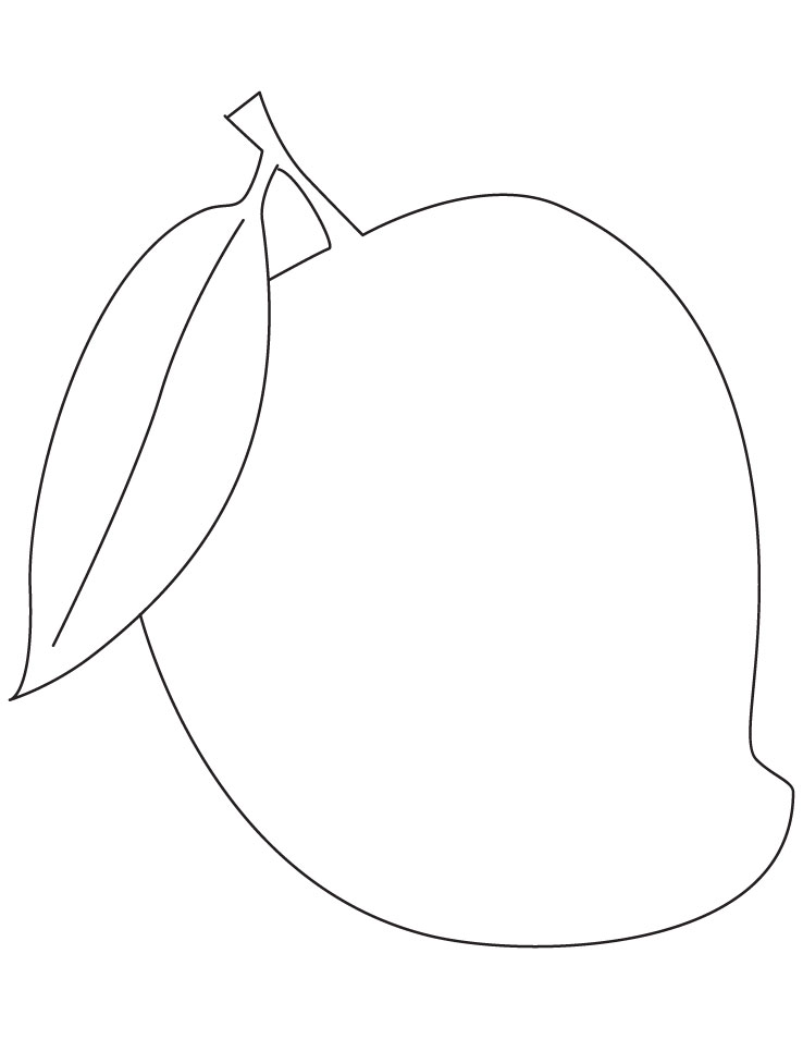 Black And White Custard Clipart With Apple