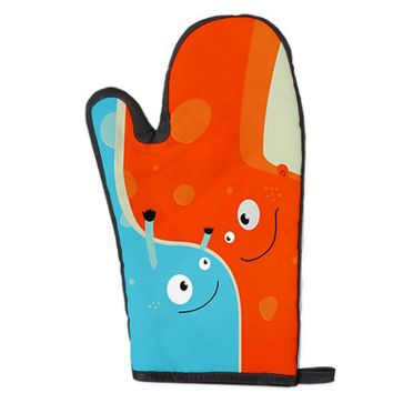 Hugging Cute Cartoon Characters Oven Mitt from CafePress