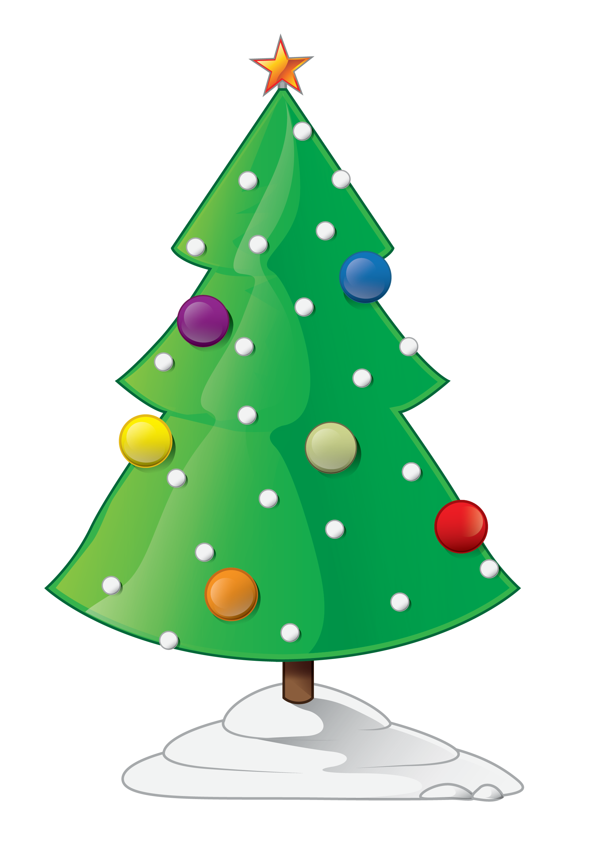 Pictures Of Cartoon Christmas Trees