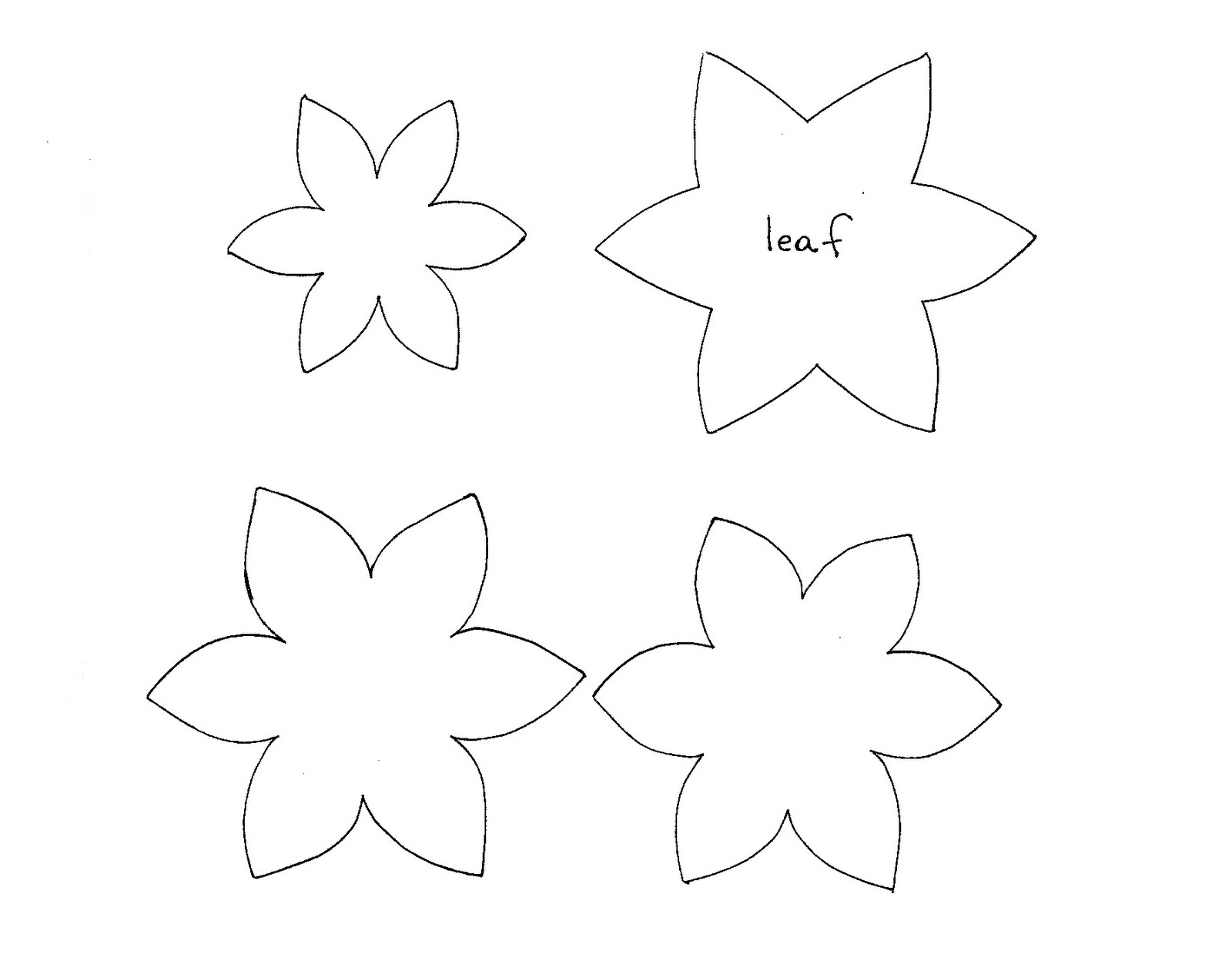 Simple Flower Template