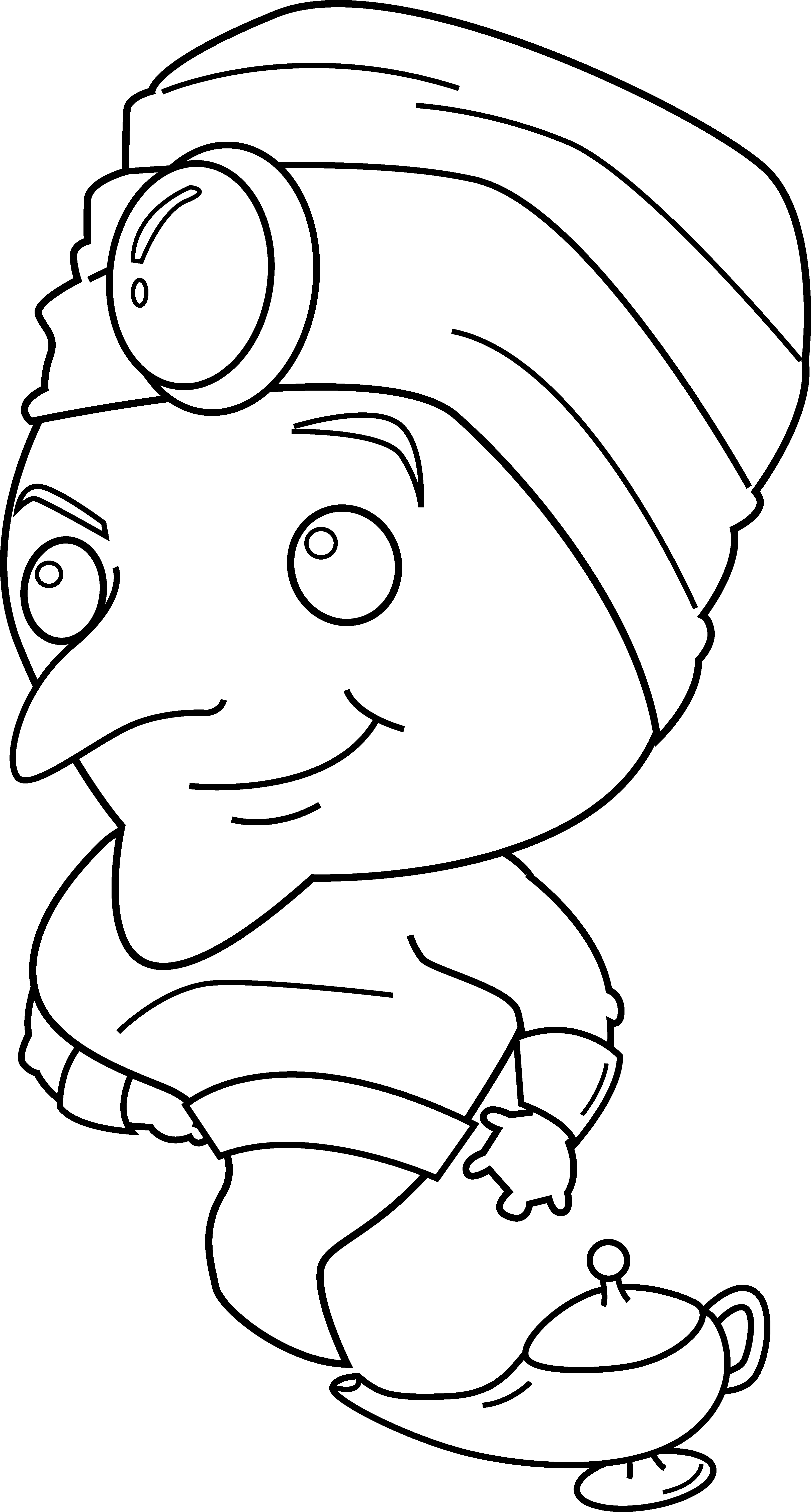 genie magic coloring pages - photo#2