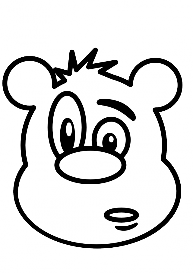 Line Drawing Of Bear Face : Teddy bear black and white cliparts