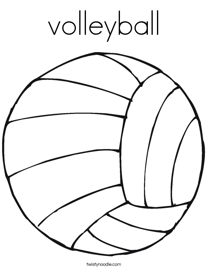 image relating to Volleyball Printable called Volleyball Coloring Web page : Printable Coloring Reserve Sheet