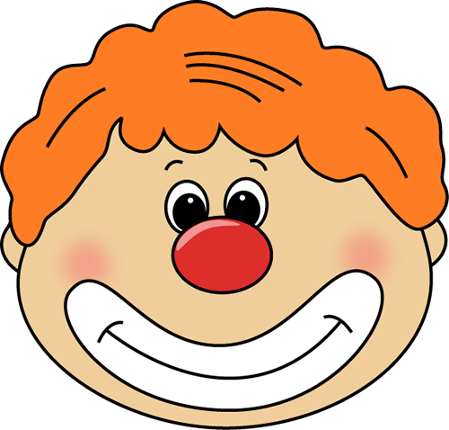 Clown Face Clip Art - Clown Face Image