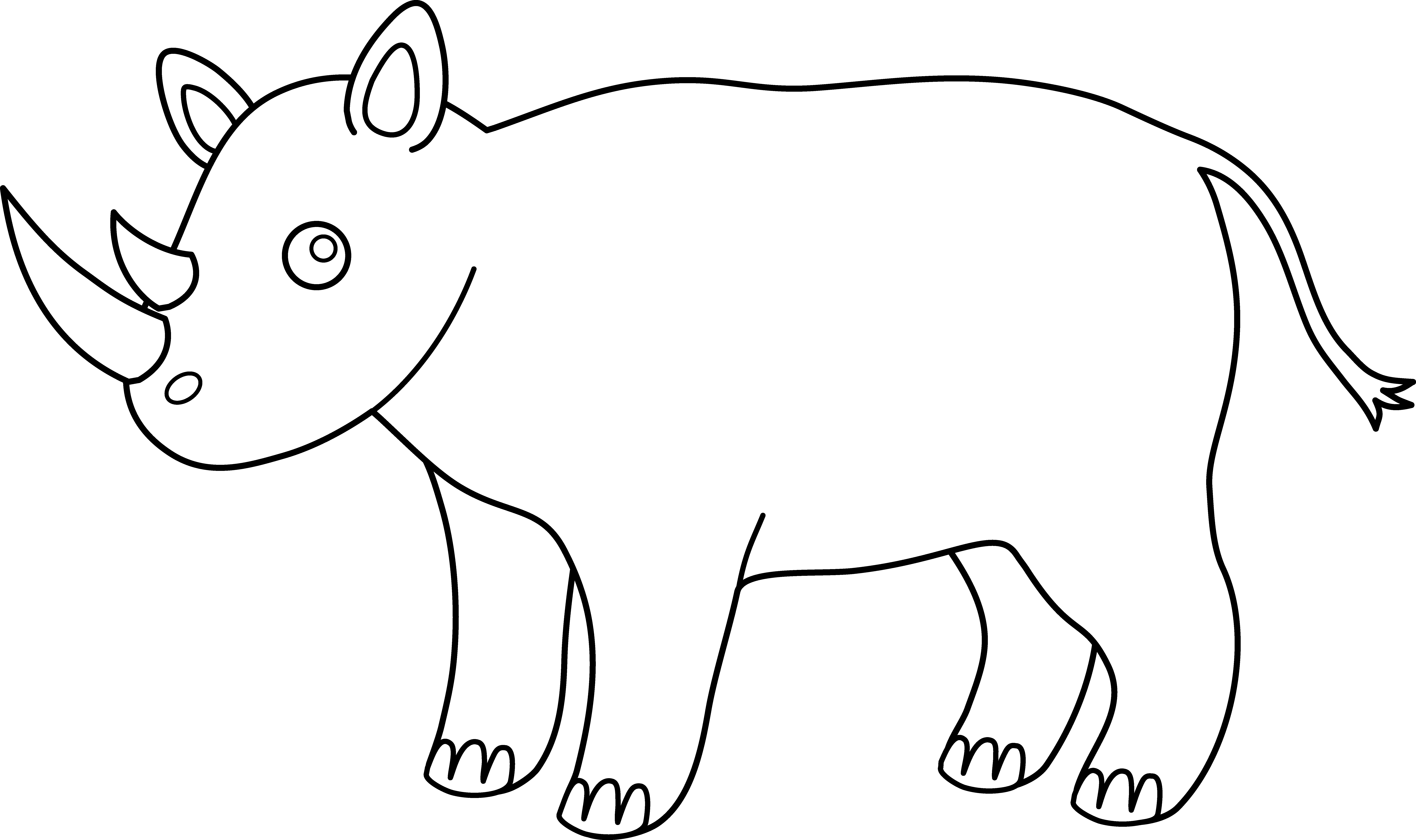 Line Drawing Rhino : African animals clipart cliparts