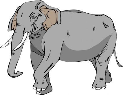 Elephant clip art - Download free Other vectors