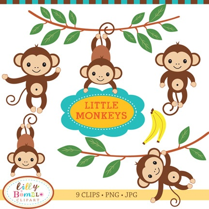 Free Baby Monkey Clip Art Cliparts Co
