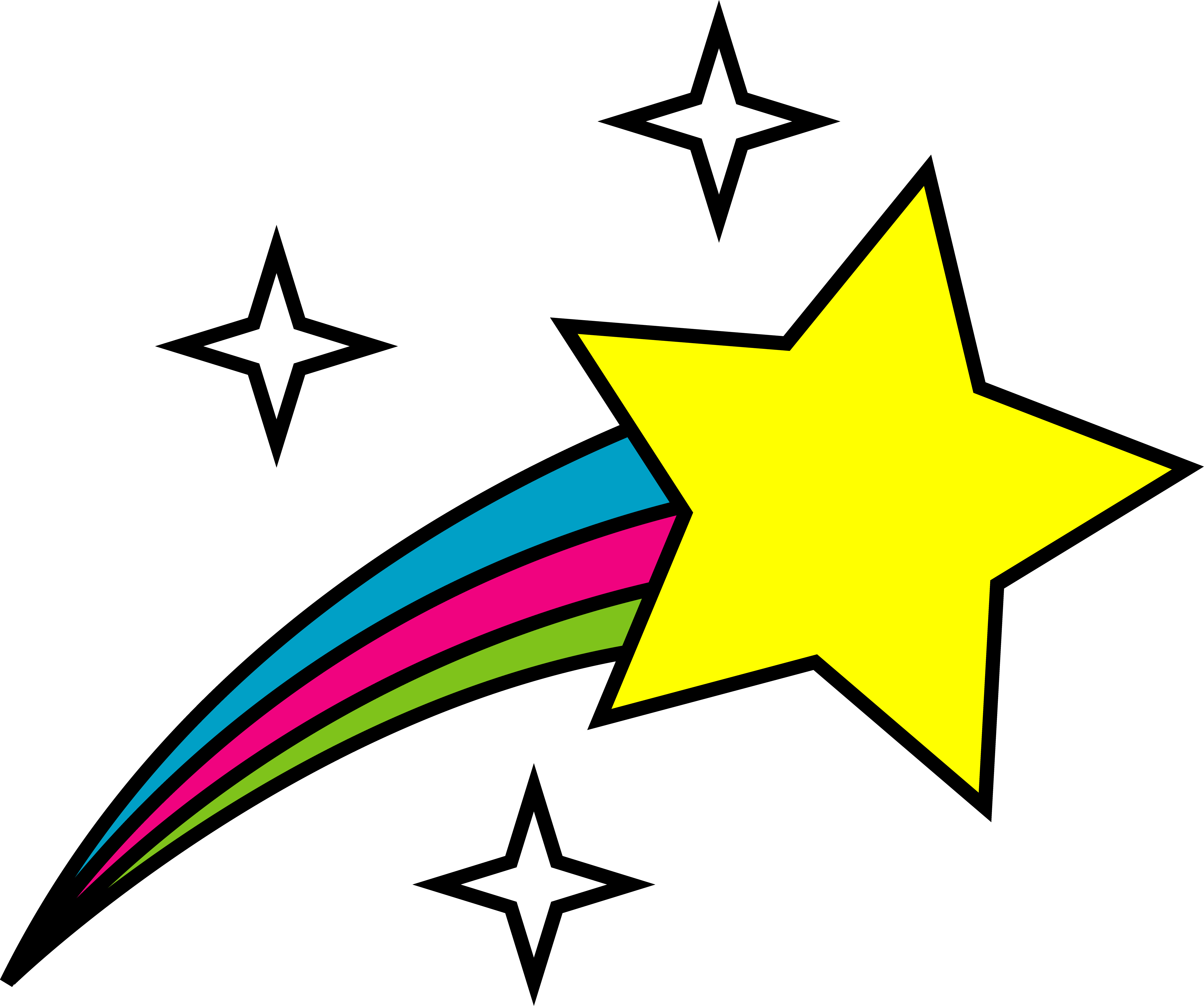 Outer Space Shooting Star - Free Clip Art