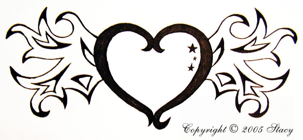 Simple Heart Line Art : How to draw a simple heart cliparts