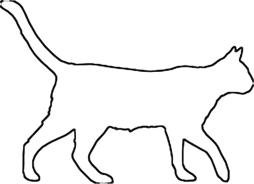 Halloween Cat Outline - Cliparts.co