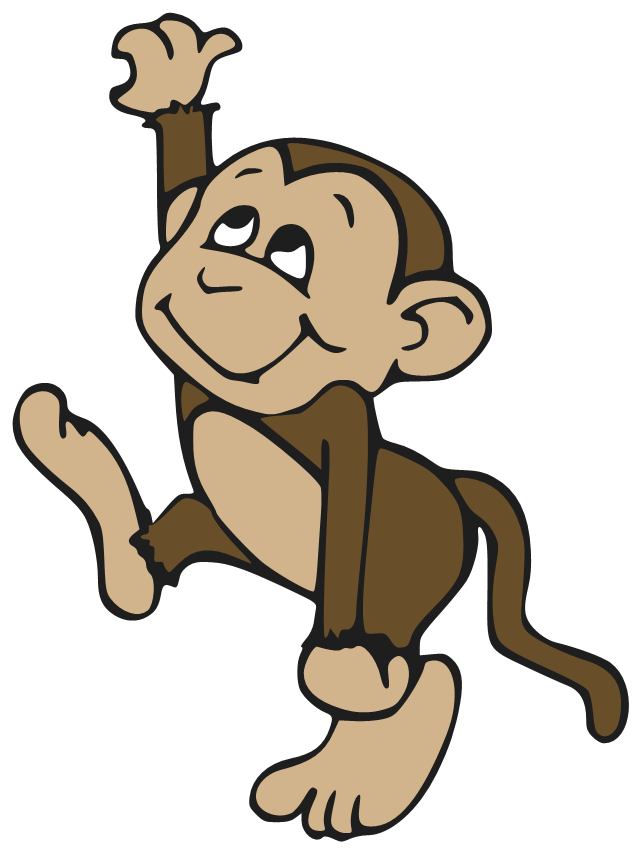 clipart monkey hanging from tree - photo #33