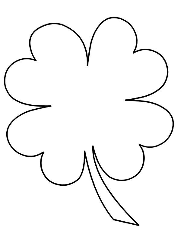 Home Four Leaf Clover Kids Drawing Of Four Leaf Clover Coloring ...