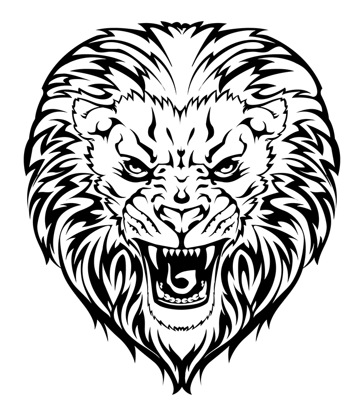 Line Art Lion : Lion line drawing cliparts