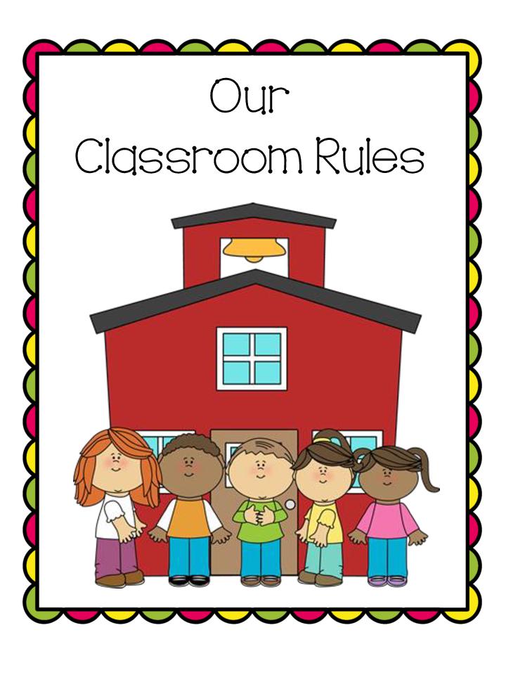 Vector Clipart - Classroom rules bulletin elements. Vector Illustration  gg86717625 - GoGraph
