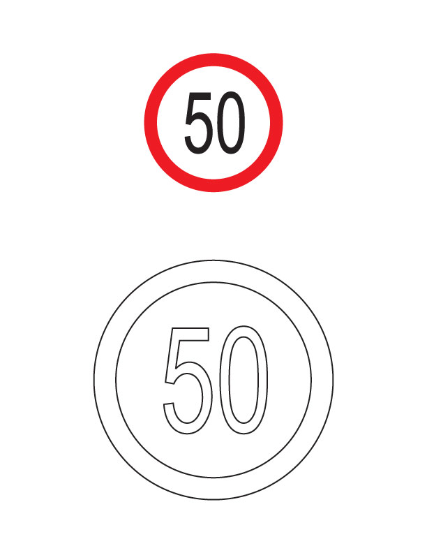 Free Road Sign Coloring Pages