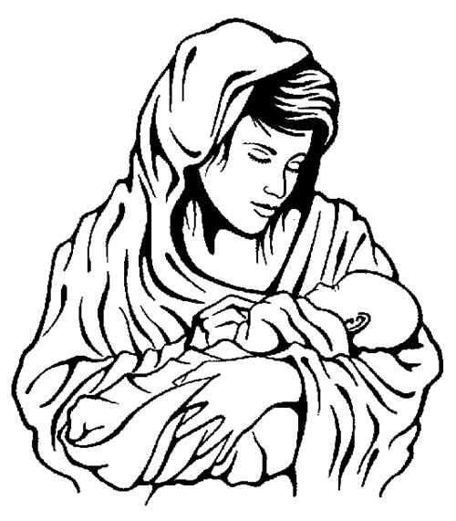 cartoon baby jesus clipart best - Mary Baby Jesus Coloring Page