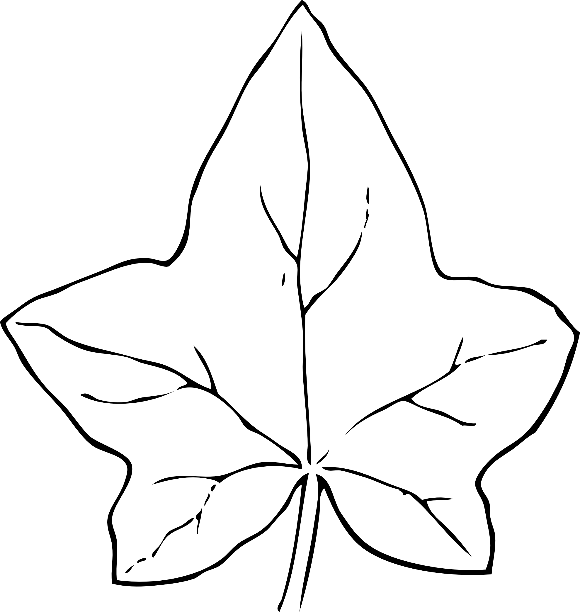 57 images of Black And White Leaf Clip Art . You can use these free ...