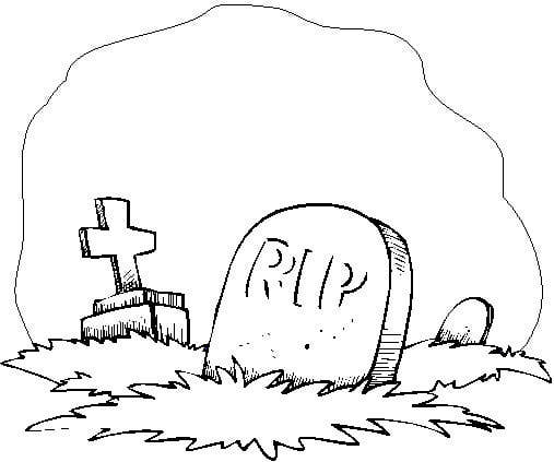 tombstone coloring page clipartsco