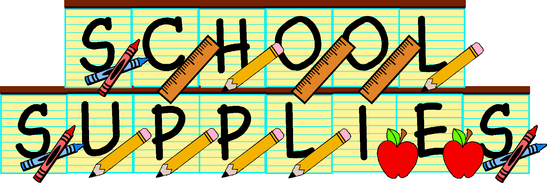 School Supplies Clip Art - ClipArt Best