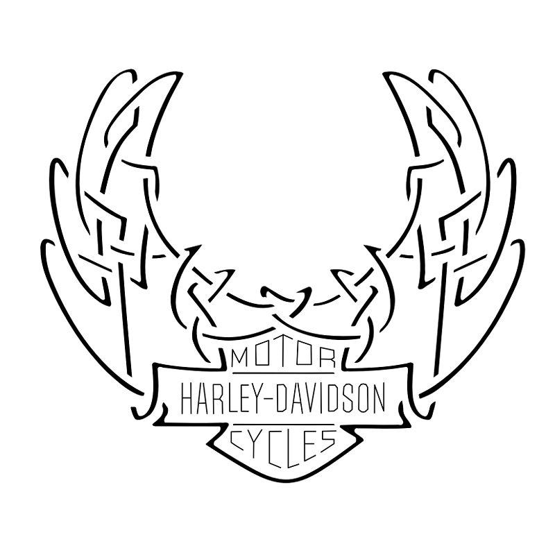 Tatuaggio di Harley Davidson, Logo celtico tattoo - TattooTribes.com