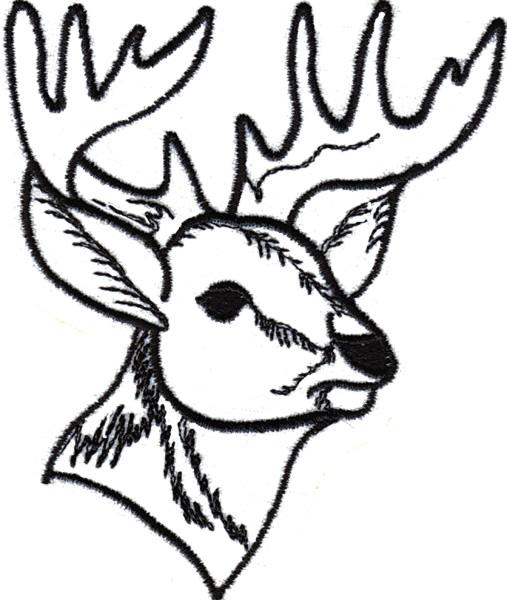 Deer Head Outline Clipartsco