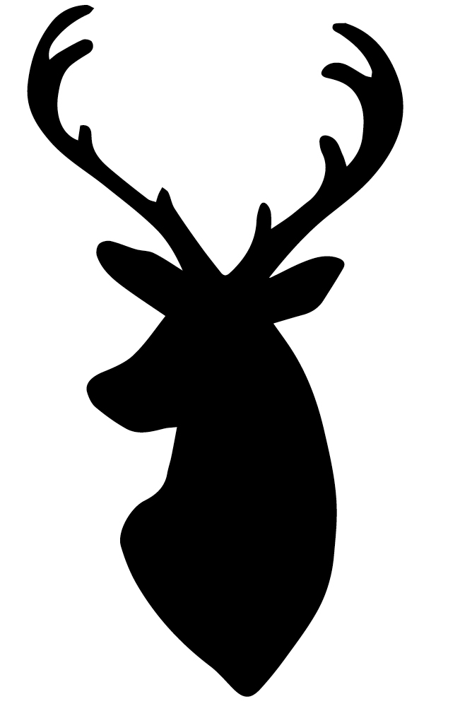 Elk Head Silhouette - Cliparts.co