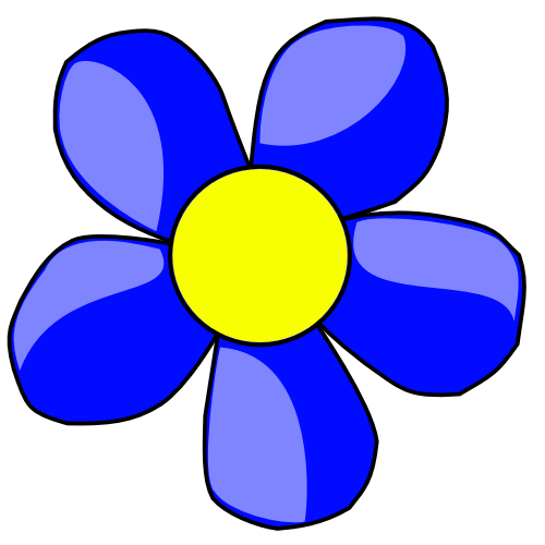 flower clip art color - photo #19
