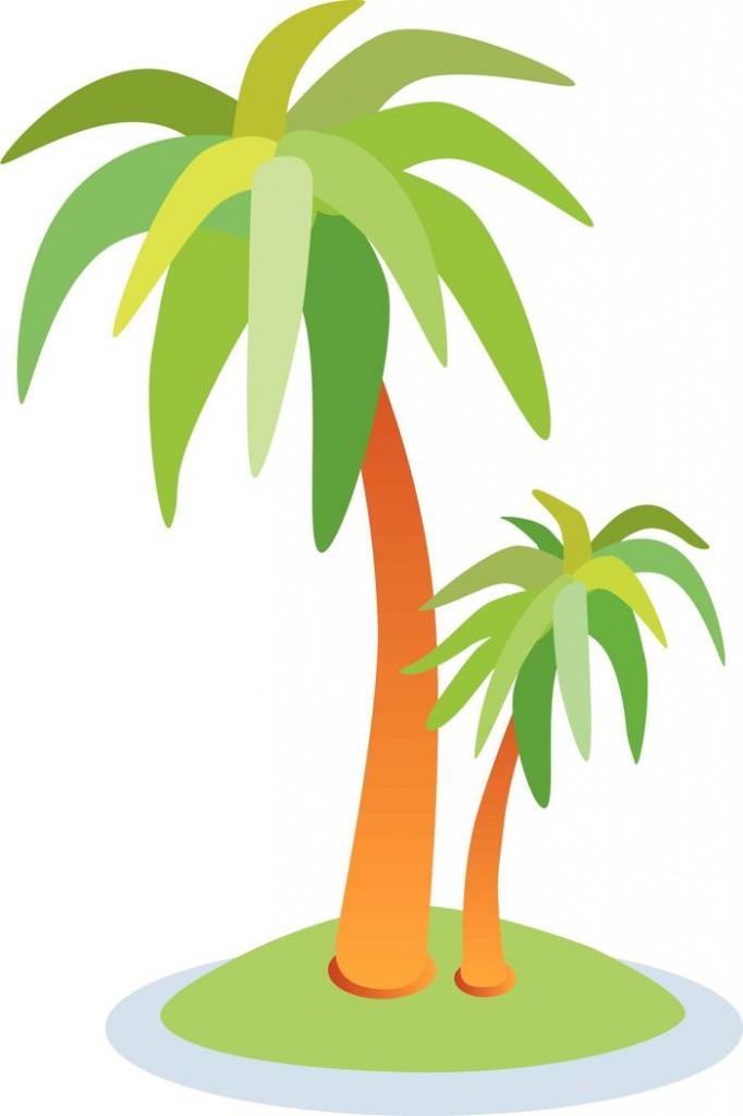palm tree beach clipart - photo #6
